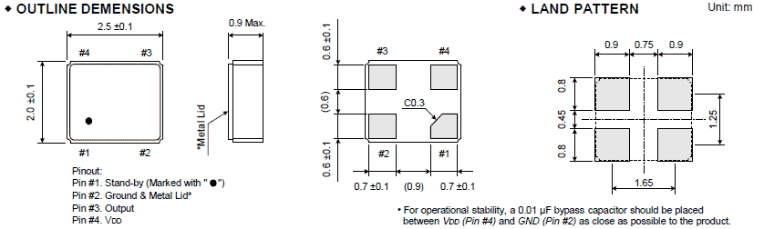 大河晶振,有源晶振,fcxo-05晶振