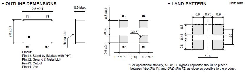 大河晶振,有源晶振,fcxo-05d晶振