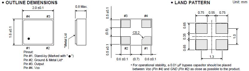 大河晶振,石英晶体振荡器,fcxo-06c晶振