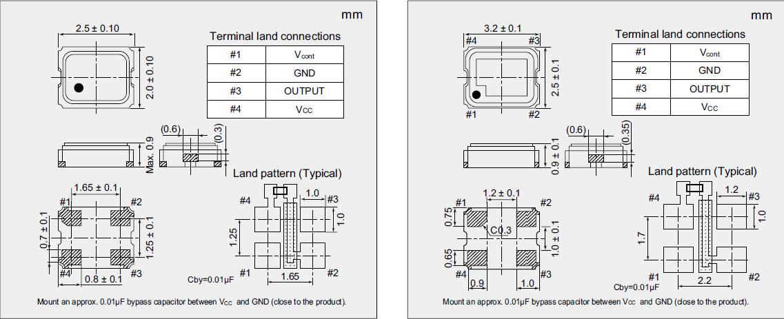 2520mm有源晶振,压控晶体振荡器,nv2520sa晶振