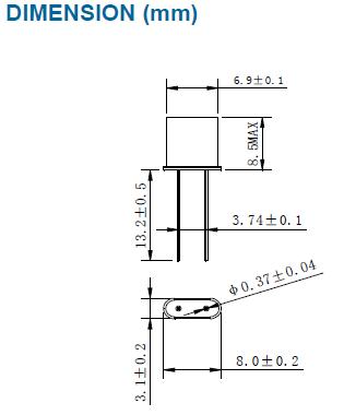 插件型石英晶振,无源dip晶振,x5晶振