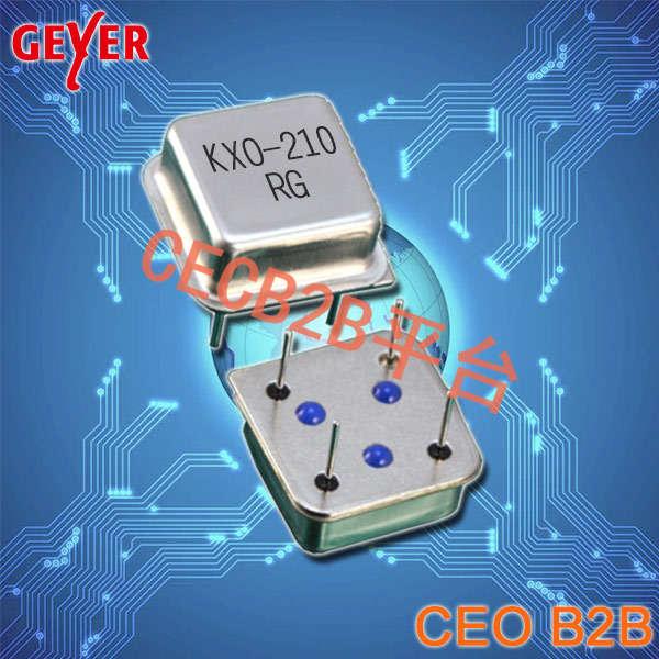 格耶晶振,有源晶振,KXO-210晶振,插件石英晶振