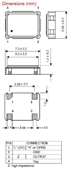 GEYER晶振,32.768K有源晶振,KXO-97-kHz晶振,低损耗振荡器