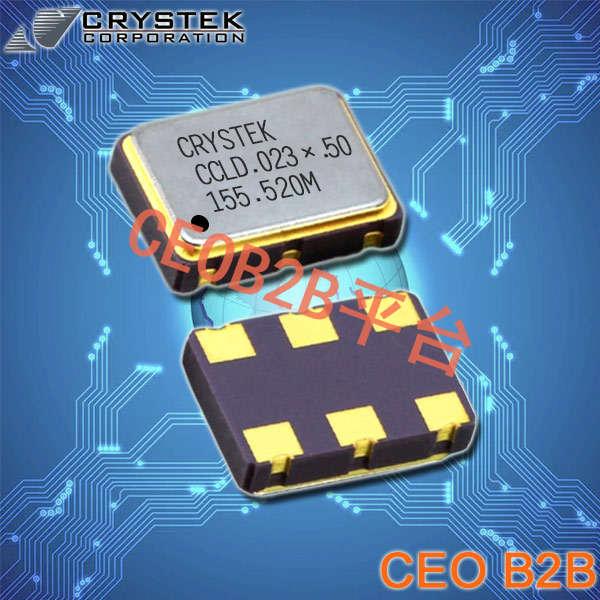 Crystek晶振,时钟振荡器,CCLD-034晶振,有源LVDS晶振