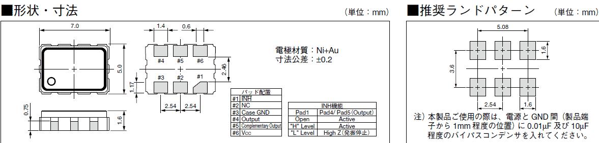 1.由于制造过程中进行了灰尘等异物管理,因此包装开封以后,请在进行清洁度管理的环境中使用。 2.晶体振荡器的内部电路使用C-MOS。闭锁、静电对策请和一般的C-MOS IC一样考虑。有些晶体振荡器没有和旁路电容器进行内部连接。使用时,请在Vdd-GND之间用0.01F左右的高频特性较好的电容器(陶瓷晶振片状电容器等)以最短距离连接。关于个别机型请确认宣传册、规格书。 3.