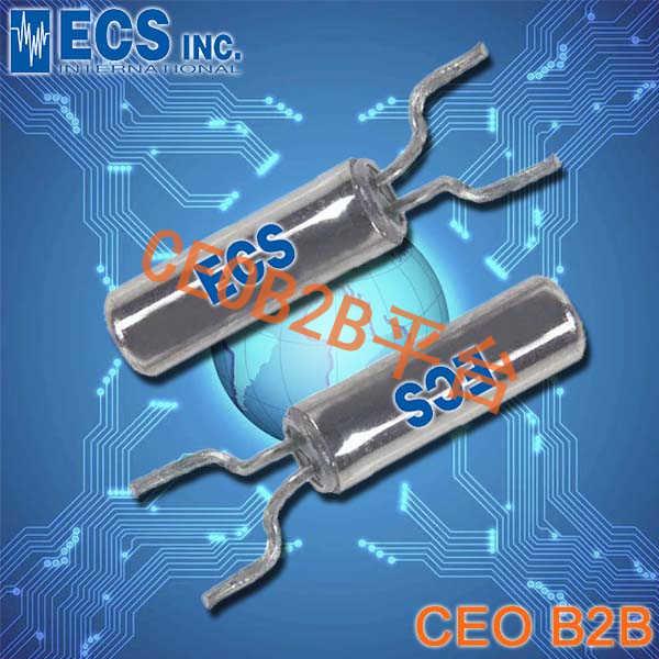 ECS晶振,ECS-2X6-FLX晶振,ECS-.327-12.5-13FLX-C晶振,32.768K晶振