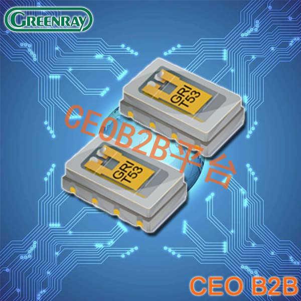 Greenray晶振,温度补偿晶振,T53晶振