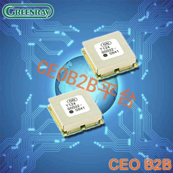 Greenray晶振,石英晶体振荡器,T124晶振