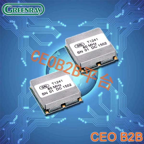Greenray晶振,TCXO晶振,T1241晶振