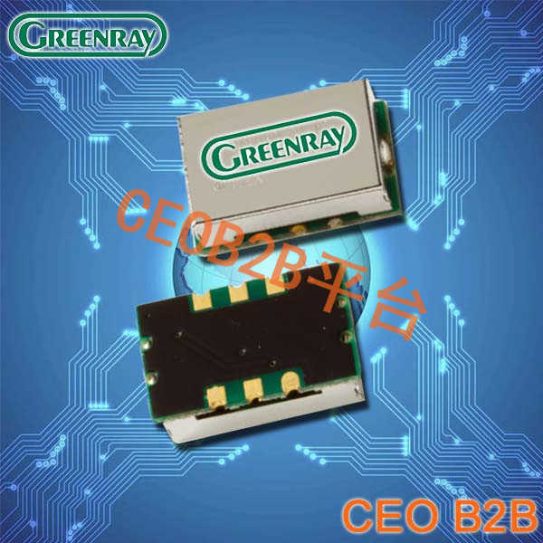 Greenray晶振,温度补偿型晶体振荡器,T1250晶振