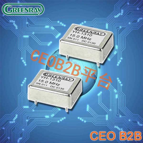 Greenray晶振,DIP型恒温晶振,YH1310晶振