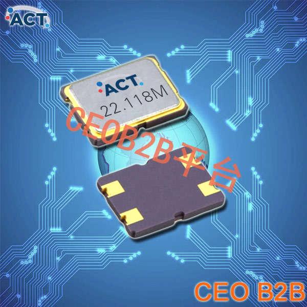 ACT晶振,贴片晶振,753 SMX‐4晶振,高可靠7.0*5.0mm晶振