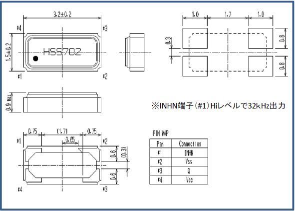 精工晶振,有源晶振,SH-32S晶振,OSC晶体振荡器