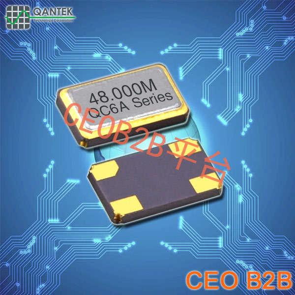 QANTEK晶振,贴片晶振,QC6A晶振,6035mm车载系列晶振