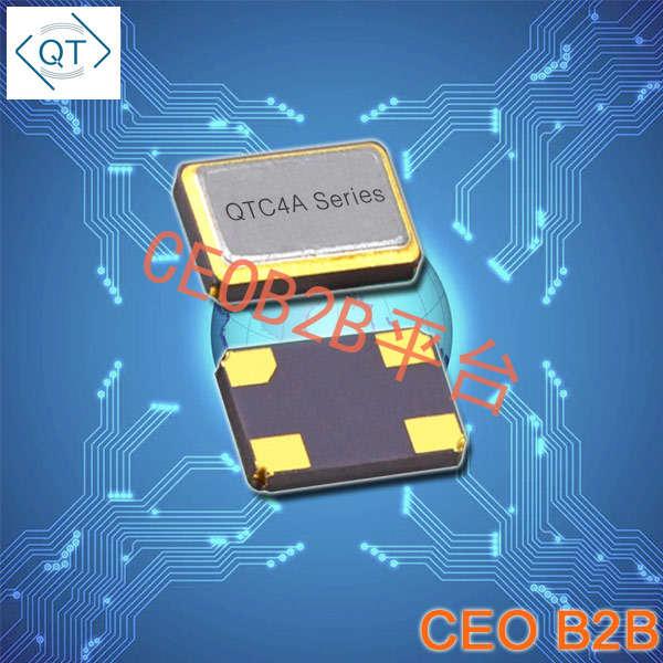 QuartzChnik晶振,贴片晶振,QTC4A晶振,4.0*2.5mm石英晶振