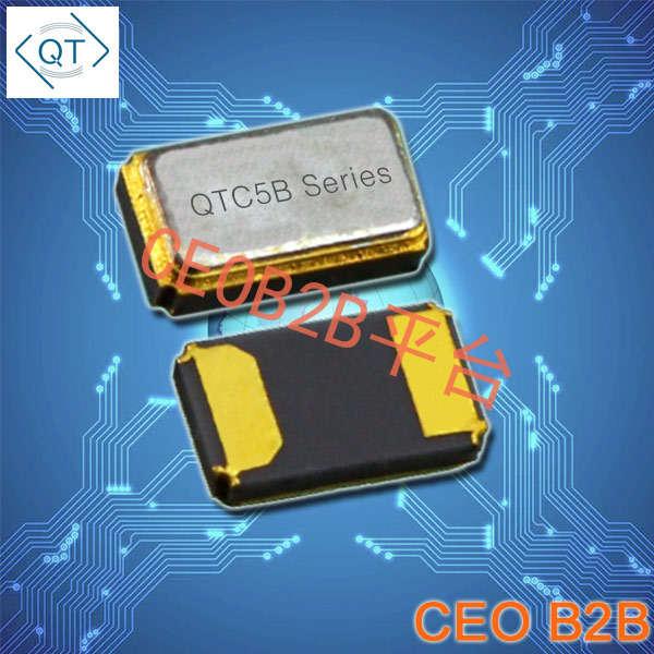 QuartzChnik晶振,贴片晶振,QTC5B晶振,金属面封装两脚晶振