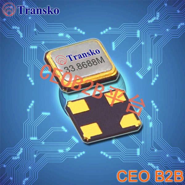 Transko晶振,贴片晶振,CS12晶振,最小尺寸环保型压电晶体