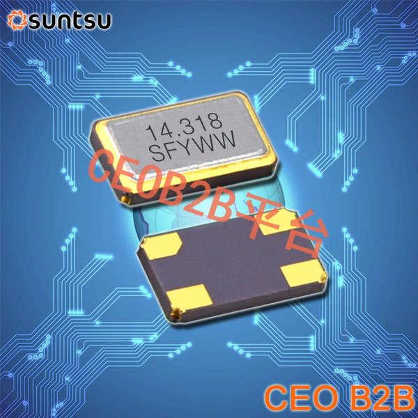 SUNTSU晶振,贴片晶振,SXT534晶振,无源石英晶振