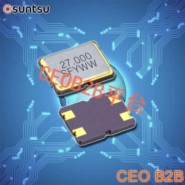 SUNTSU晶振,贴片晶振,SXT754晶振,进口无源晶振