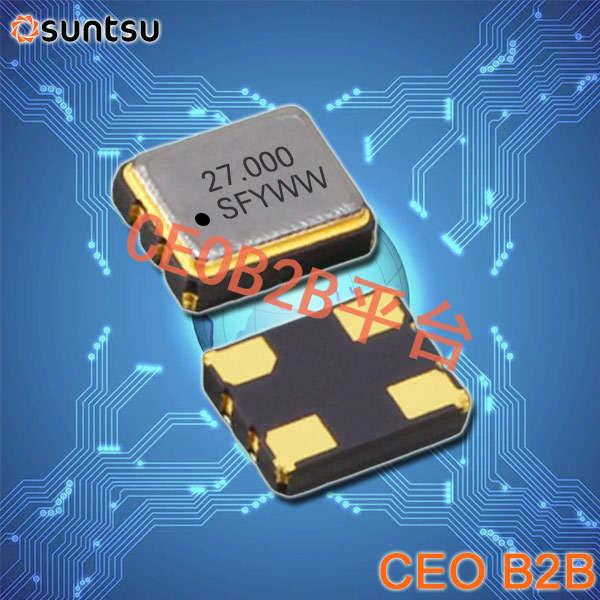 SUNTSU晶振,32.768K有源晶振,SXO32C晶振,时钟晶体振荡器